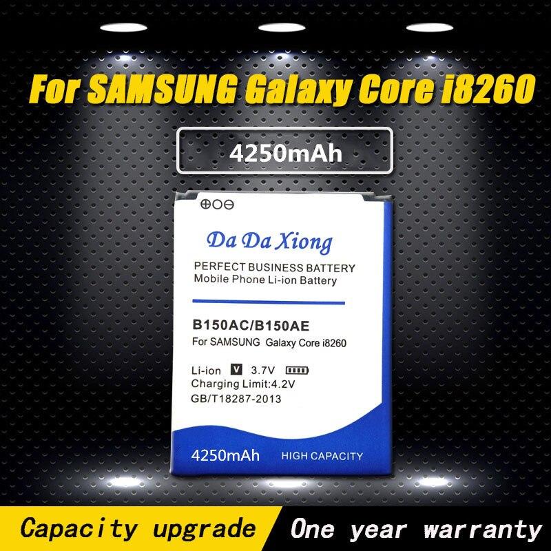 Batería de teléfono de repuesto 4250mAh B150AC B150AE para Samsung Galaxy Core i8260 i8262 g3502u g3502 g3508 g3509