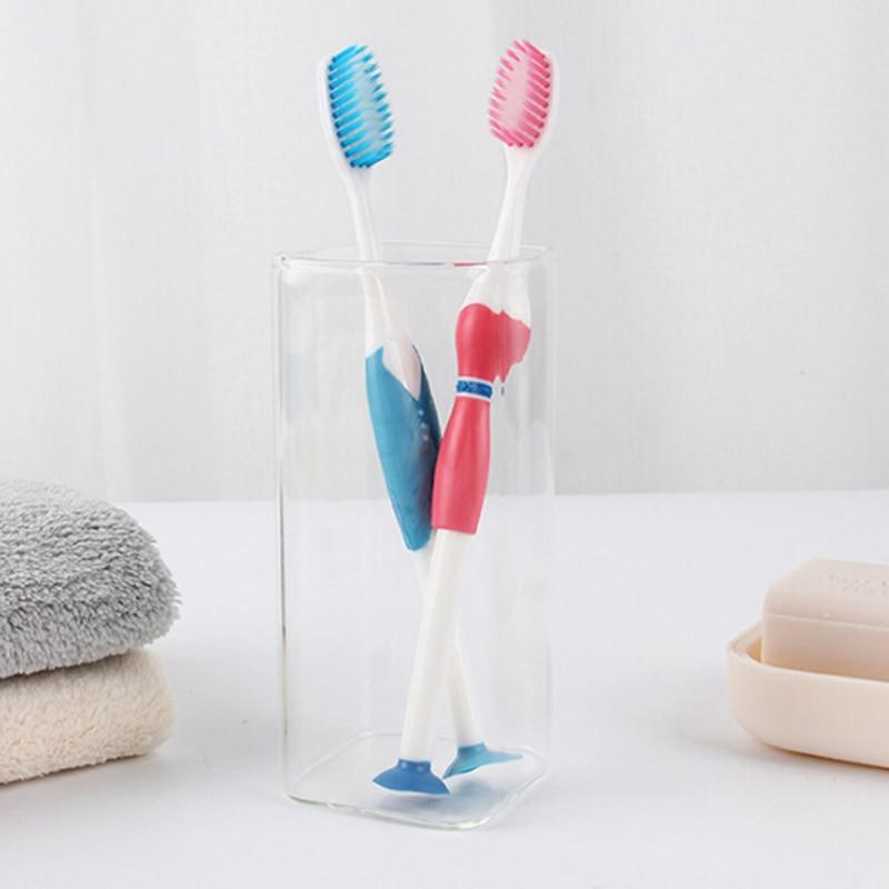 Macio Dois Carregado Casal Escova de Dentes de Cerdas macias Dentes Raspador de Língua Escova 2 pçs/set Dois Carregados de Silicone Nano Adulto escova de Dentes