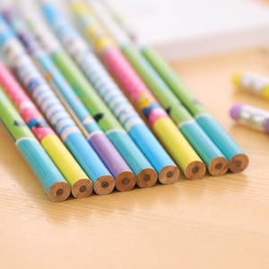 24 Pcs Cute Animal Pencils Environmental Protection Children Student Pencils Lead Lead Student Office Stationery Wholesale