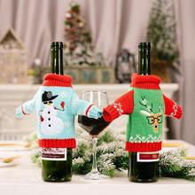 Christmas Decoration, Christmas Knitted Clothes, Wine Holiday Decoration Table Supplies Wine Bottle