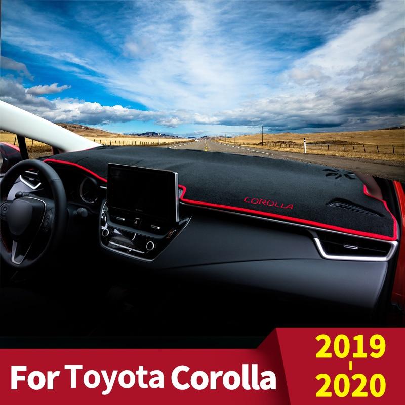 For Toyota Corolla 2019 2020 Car Dashboard Cover Dash Mat Sun Shade Pad Instrument panel Carpets Protector Anti-UV Accessories
