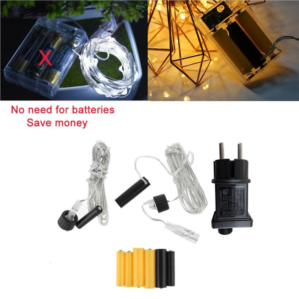 Adaptador de fuente de alimentación de Eliminador de batería... enchufe europeo AA AAA 2 3 AA AAA batería de 1,5 V para lám