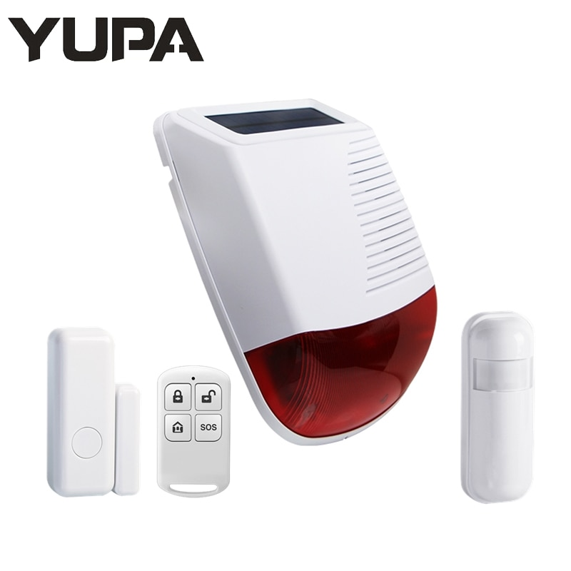 433MHz Wireless Light Flash Strobe Outdoor Solar Waterproof Siren for Home Burglar Alarm Kit Wifi GSM Home Security Alarm System недорого