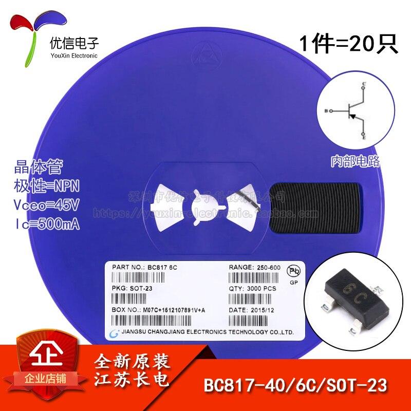 BC817-40 véritable écran dorigine 6C SOT-23 NPN 45V / 500mA SMD transistor