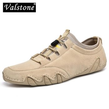 Valstone качество кожи; Мужские лоферы; Повседневные светильник на плоской подошве; Обувь для вождения; Обувь для мужские уличные туфли в классическом Осьминог Мокасины размера плюс; Большие размеры 38-46