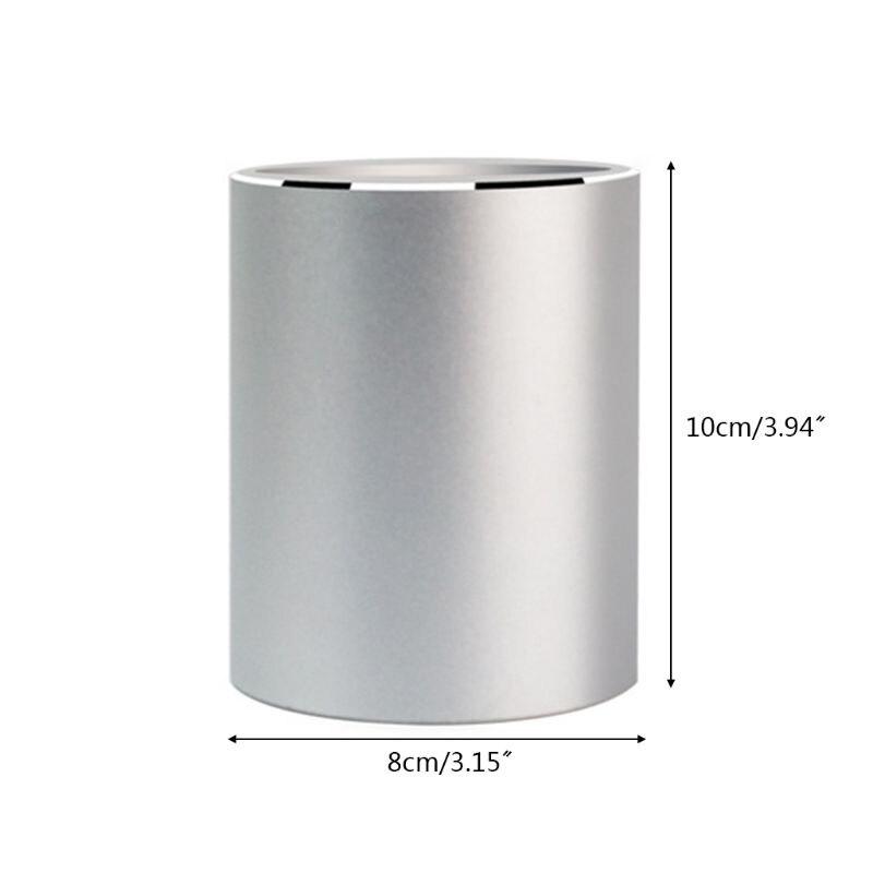 Liga de alumínio mesa caneta lápis organizador de armazenamento copo titular recipiente papelaria