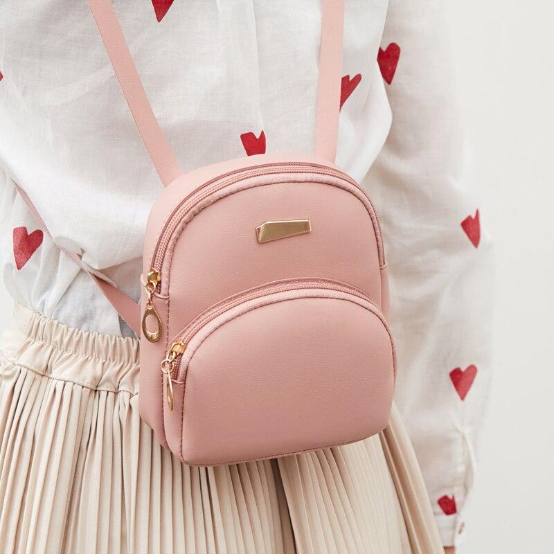 Small Backpack Women Fashion Mini Zipper Backpacks Cute Children Girls Bag