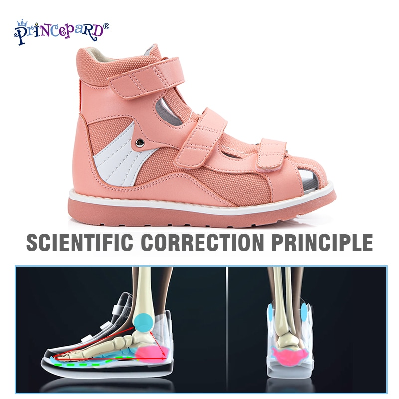 Princepard Orthopedic Kids Sandals for Boys Girls Summer Open Toe Corrective Arch Support Shoes Babies First Walk Thomas Sole enlarge