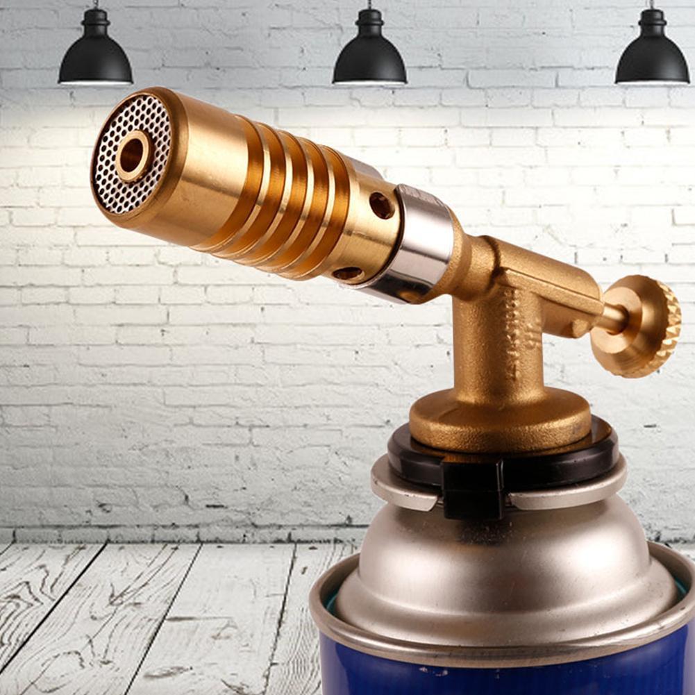 Welding Torch Butane Gas Welding Torch Cooking Blow Heating Gun Lighter Ignition Welding Lighter Copper Torch Butane Torch Z8S4 novelty pig style butane lighter keychain golden