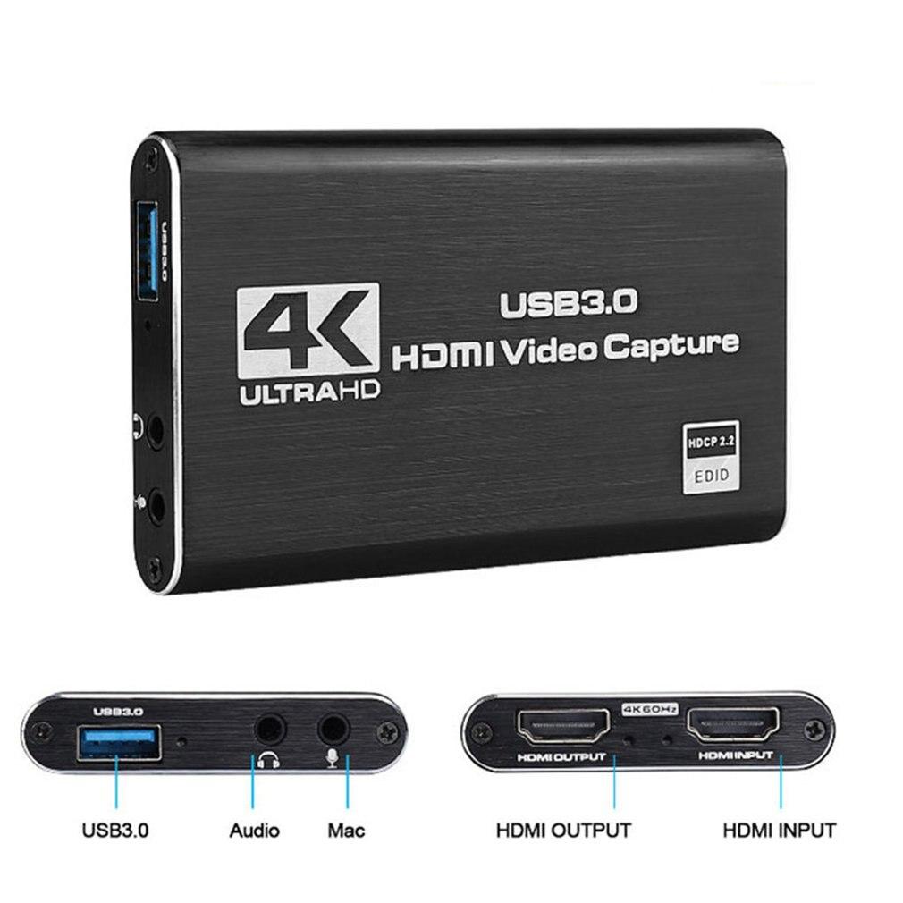 Tarjeta de captura de videojuegos, convertidor de vídeo con salida HDMI, transmisión...