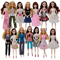 fashion princess doll dress up fashion casual clothes skirt suit diy doll toys for girls gift