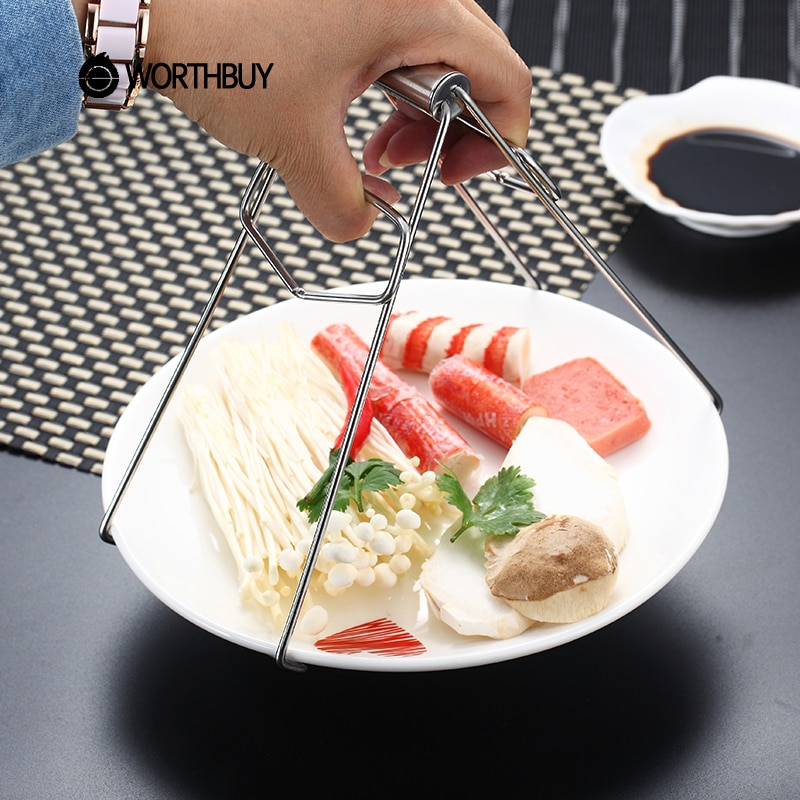 Pinzas para platos de acero inoxidable Maiyuansu, pinzas para platos antiquemaduras, pinzas para platos, pinzas para ollas, accesorios de cocina, soporte para platos