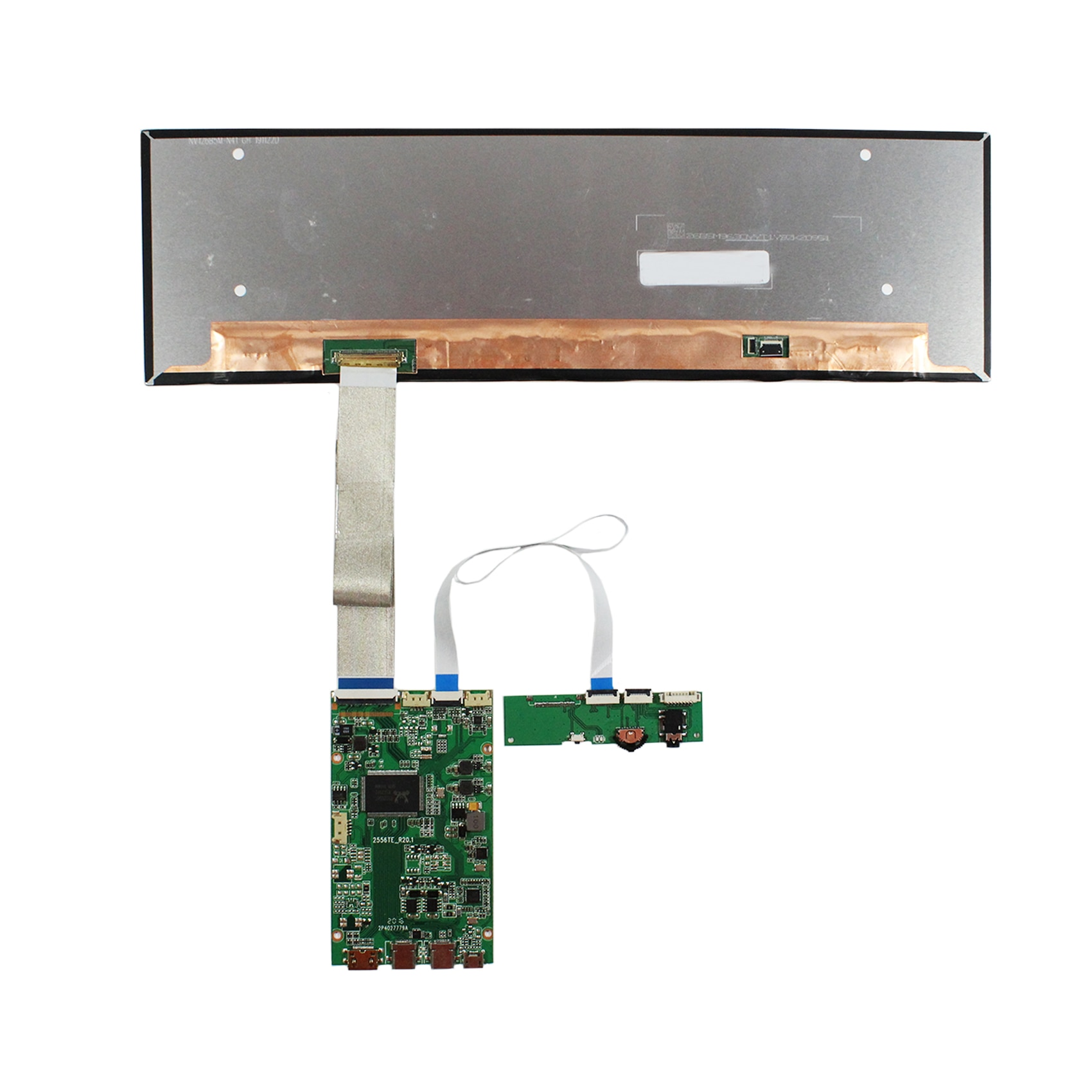 EDP 12.6inch NV126B5M-N41 1920X515 IPS LCD Screen work with HD  MI Board for mall /car/ navigation/ shelves booking system enlarge