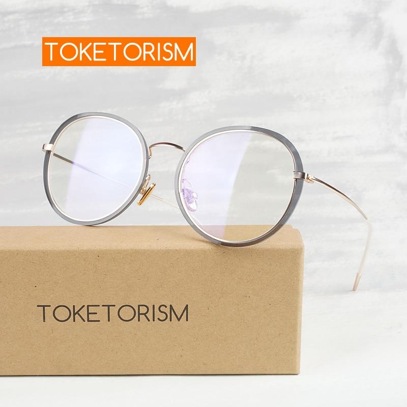 Toketorism vintage marco redondo cero dioptrías marcos para anteojos de prescripción