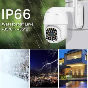 Two Way Audio Waterproof IR Color Night 2MP Auto-tracking PTZ IP Camera WiFi Outdoor 4X Zoom Wireless Security CCTV Camera