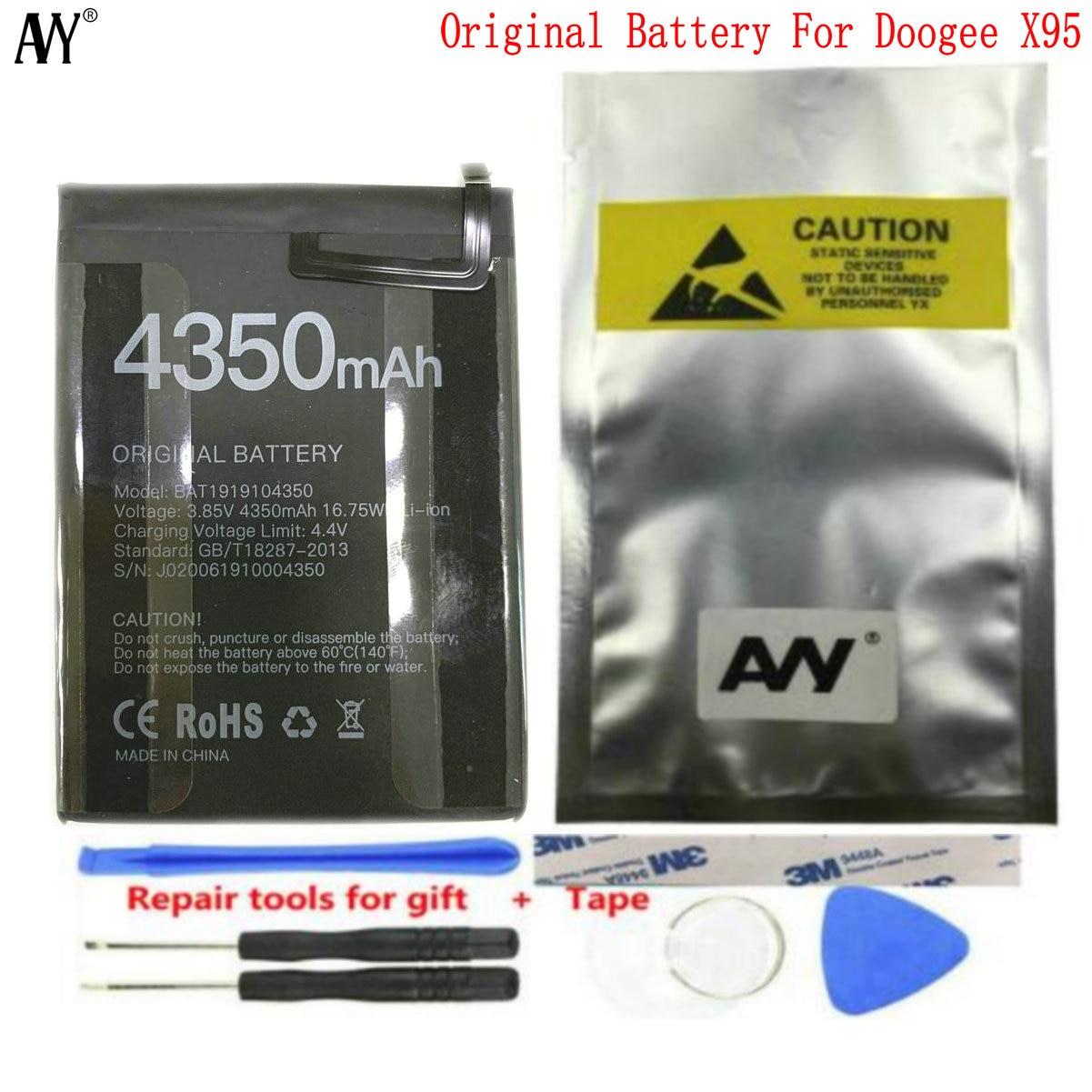 Аккумулятор AVY 4350 мАч Для Doogee X95 Pro, сменные Оригинальные аккумуляторы, перезаряжаемые литий-полимерные аккумуляторы 6,52 дюймов mtk6737