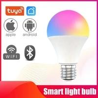 Tuya WiFi Smart Light Bulb LED Lamp RGB White Warm White Dimmable Timer Function RGB LED Bulb Work With Alexa Google Home
