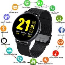 LIGE 2021 new smart watch men full touch bluetooth call sports pedometer heart rate blood sleep moni