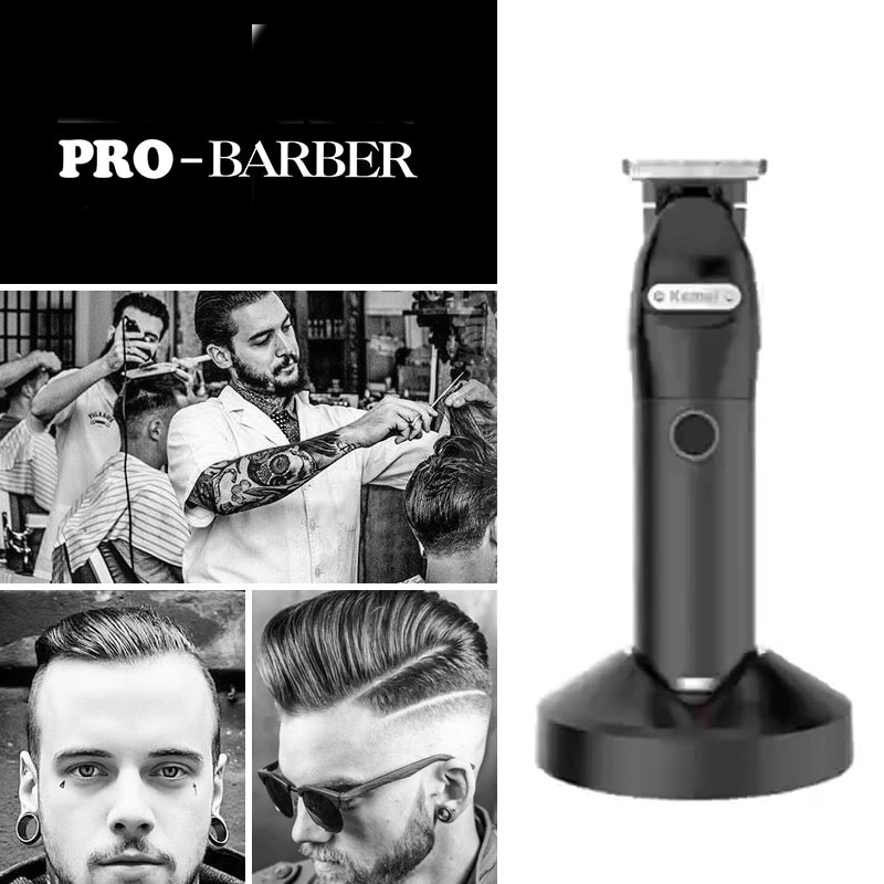 AliExpress - Kemei 10W Hair Trimmer for Men Professional Zero Gapped T-Blade Outlining Cordless Barber Hair Clippers Hair Close Cutting Kit