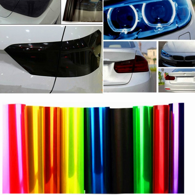 Car Color-Changing Film 1PC Car Styling Headlight Taillight Vinyl Tint Sticker Light Film Wrap 30*60CM