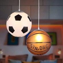 Pendant Lights Football Glass Basketball Pendant Lamp Kitchen Hanging Lamp Bedroom Restaurant Children Room Decor Light Fixtures