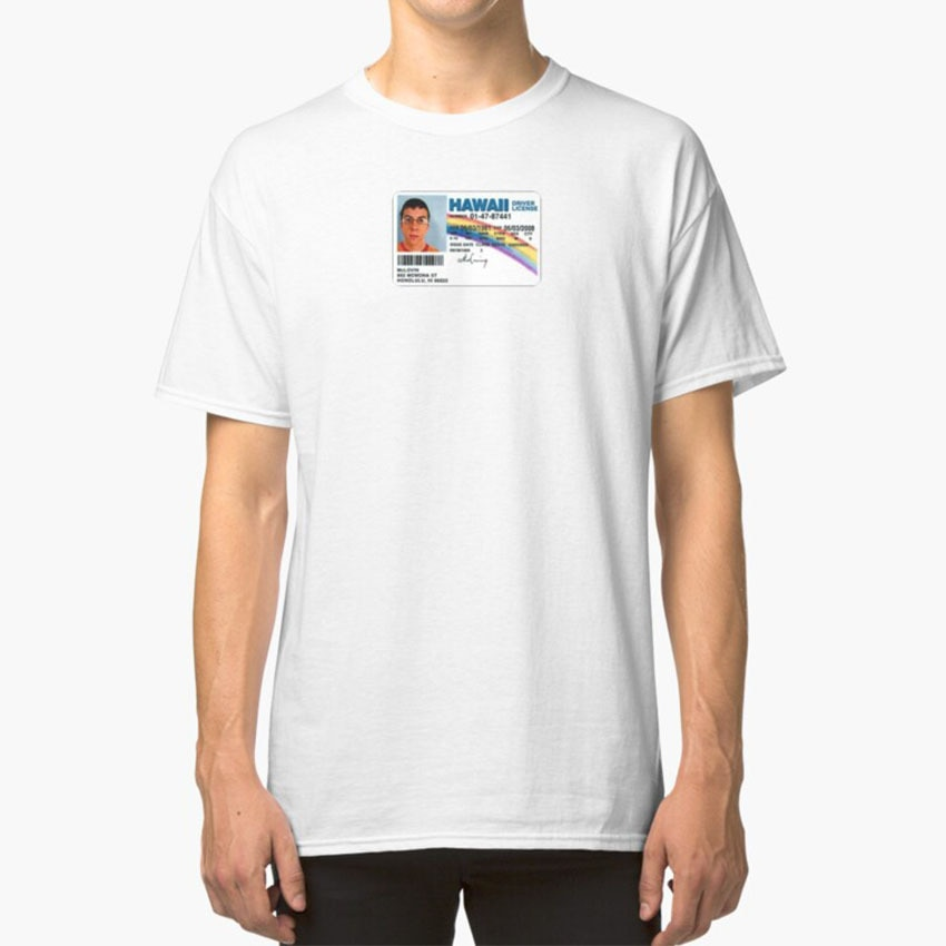 Superbad Mclovin Id T - Shirt Superbad Mclovin Christopher Mintz Plasse Seth Rogen Greg Mottola Comedies Cult Comedies Judd