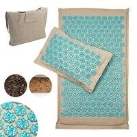 lotus shiatsu acupressure mat and pillow set coconut fiber back massage mat relaxation stress relief massager cushion yoga mat