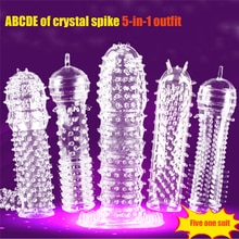 Взрослые секс-игрушки для мужчин пенис Дик для наращивания презерватива Насадка-презерватив Увеличьте Мужские t для мужчин спрей-спрей для задержки массажер петух кольцо Крышка