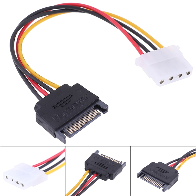 sata15pin male serial to 15pin ide molex female 4pin sata female power adapter cable SATA TO IDE Power Cable 15 Pin SATA Male to Molex IDE 4 Pin Female Cable Adapter