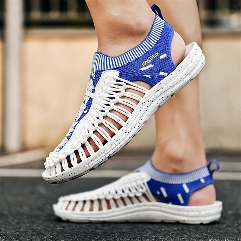 Tendência de Moda Pés de Sola Sapatos Masculinos Correspondência Mão-tecido Toe Bonés Grossa Confortável Personalidade Casuais 3kc211 2021 Cor