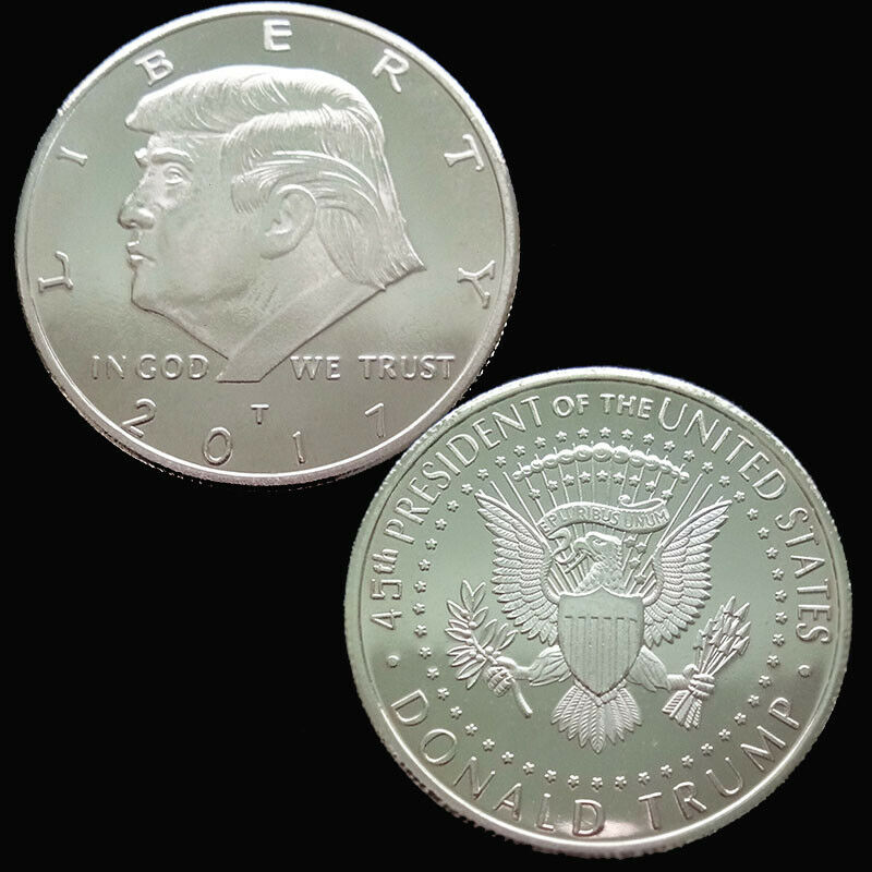 New Gold Silver Non-currency Coins Trump 2017 Silver Plated Commemorative Coin Keep America Great Gift Collection
