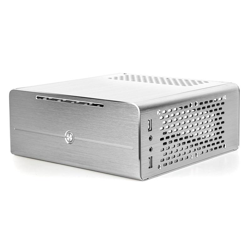 Liga de Alumínio Mini Case Htpc Micro-computador Suporte Notebook Unidade Óptica Pequeno