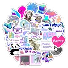 50 stücke Vaporwave Kunst Stil Aufkleber Für Laptop Computer Skateboard Gepäck Kühlschrank Notebook Helm Spielzeug Cartoon Aufkleber F5