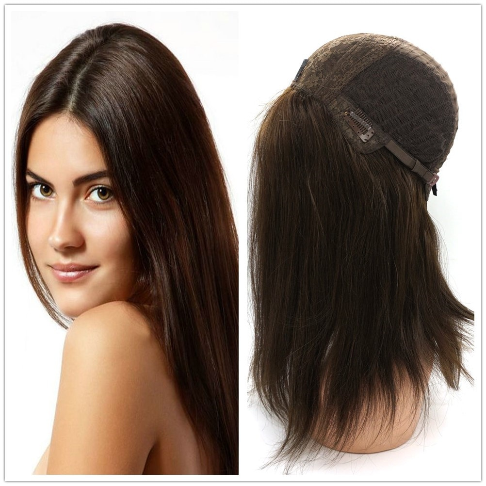 Hstonir Peluca de las unidades de moda cabello humano Perucas Femininas Pelucas peluca Kasher seda Pelucas de encaje europeo cabello Remy J002