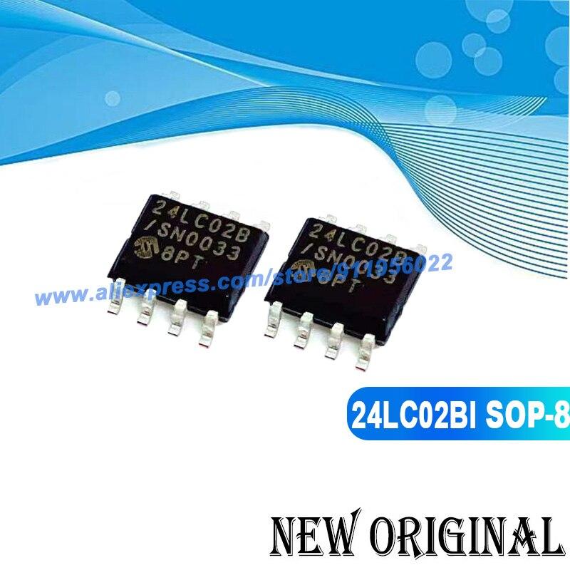 (5 peças) 24lc02b-i/sn sop-8 24lc02bi