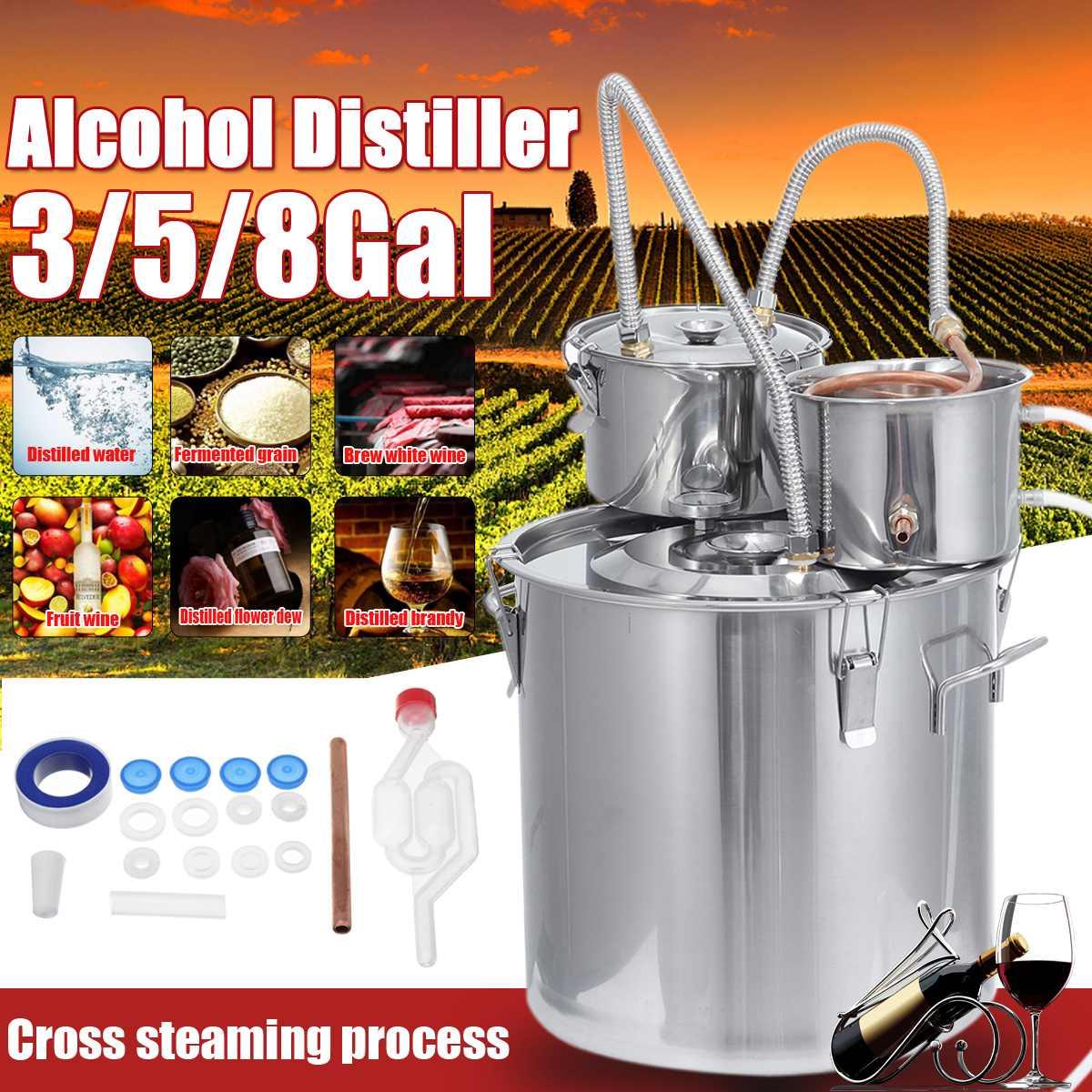 12/20/30l 3pot destilador alambic moonshine álcool ainda cobre inoxidável diy casa brew água vinho óleo essencial kit de fabricação de cerveja