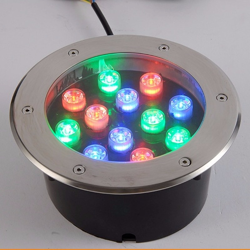 10pcs/lot Exterior Floor Round LED Underground Light Ressessed In 3W 6W 9W 12W 18W Decking Outdoor Flooring 24V enlarge