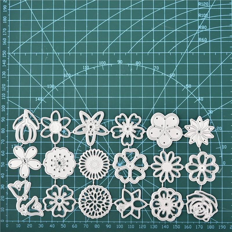 Inloveearts-troqueles de corte de metal de navidad, troqueles de flores 2020 para...