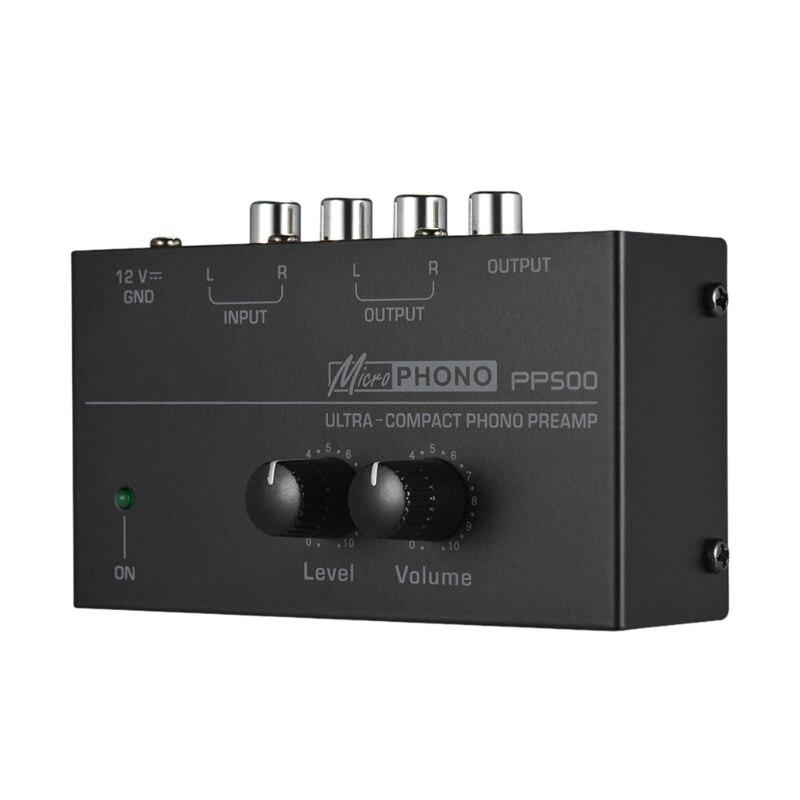 PP500 Phono Preamp усилитель с регулятором громкости уровня для винилового проигрывателя LP