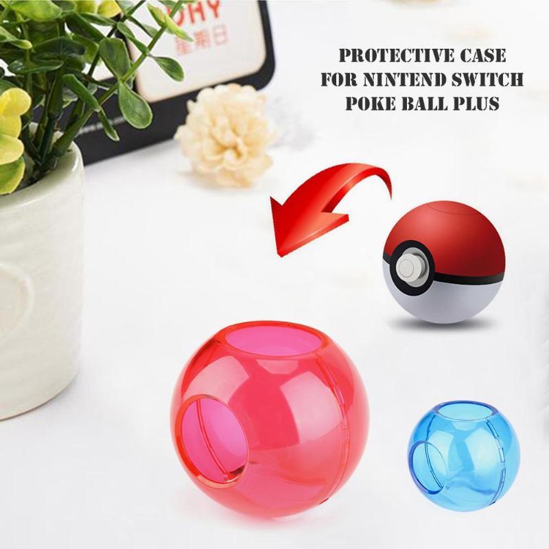 ALLOYSEED PC Crystal Gaming, funda protectora para Nintendo Switch Poke Ball Plus, controlador para Pokemon, Lets Go Dropshipping