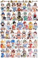 hand painted watercolor peking opera character facial makeup chinese style adult puzzle 1000 childrens educational