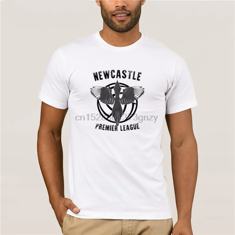 Newcastle United T G mlek PROMOSYON премьер-лиги футбольные бутсы, «Magpies» мультяшек Ordu футболка для мужчин
