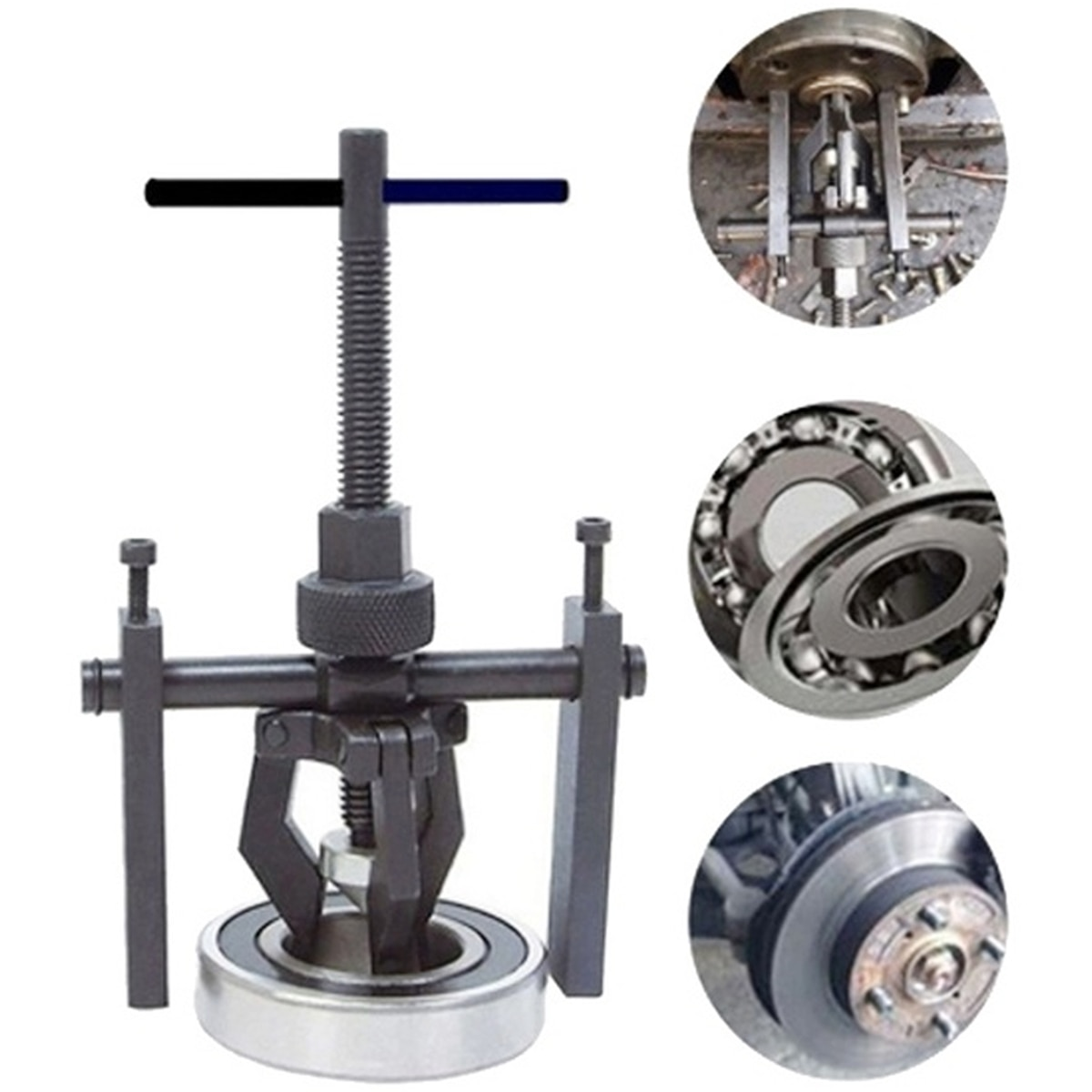 Car Auto Carbon Steel 3-jaw Inner Bearing Puller Gear Extractor Heavy Duty Automotive Machine Tool K