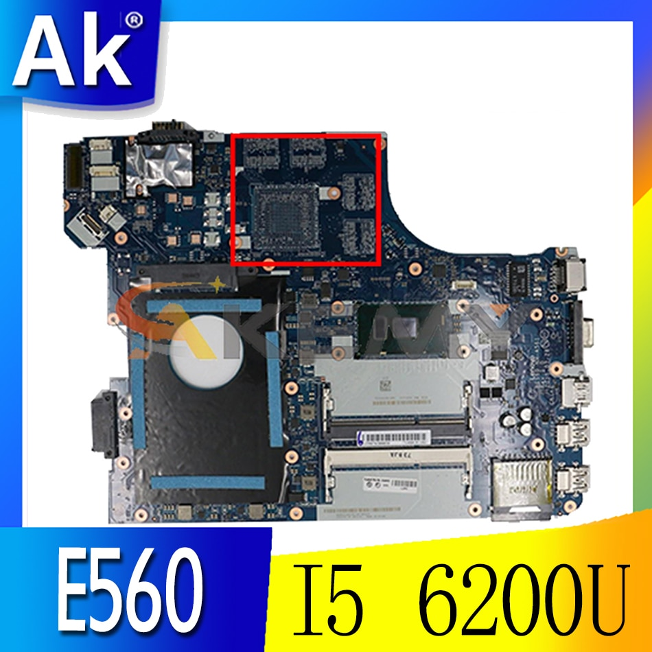 Akemy BE560 NM-A561 اللوحة لينوفو ثينك باد E560 E560C اللوحة المحمول FRU 01AW105 CPU I5 6200U DDR3 100% اختبار العمل