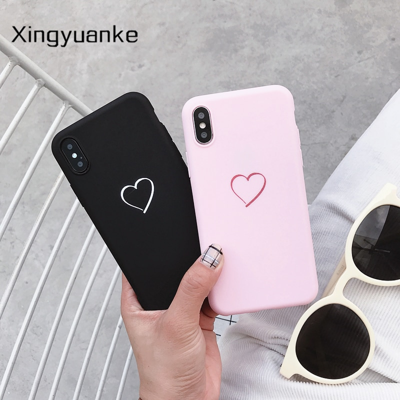 Для Huawei P8 P9 P10 P20 Lite Plus P30 Pro 2017 P Smart 2019 Z милый чехол с сердечком для Huawei Mate 10 20 30 Lite Pro