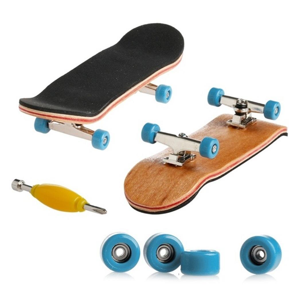Mini Bearing Wheel PU Anti-skid Pad Finger Skateboard Kit Children's Toy
