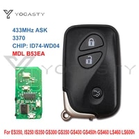 ycoasty 3 buttons id74 pcb 3370 smart remote key for lexus es350 is250 is350 gs350 gs430 gs450h gs460 ls460 ls460 ls600h 433mhz