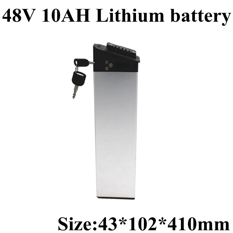 Paquete de batería de litio 13S, 48V, 10Ah, celdas 18650, descarga de 15a para motos eléctricas de 48V, 750W y 500W, carga de 54,6 v y 2a