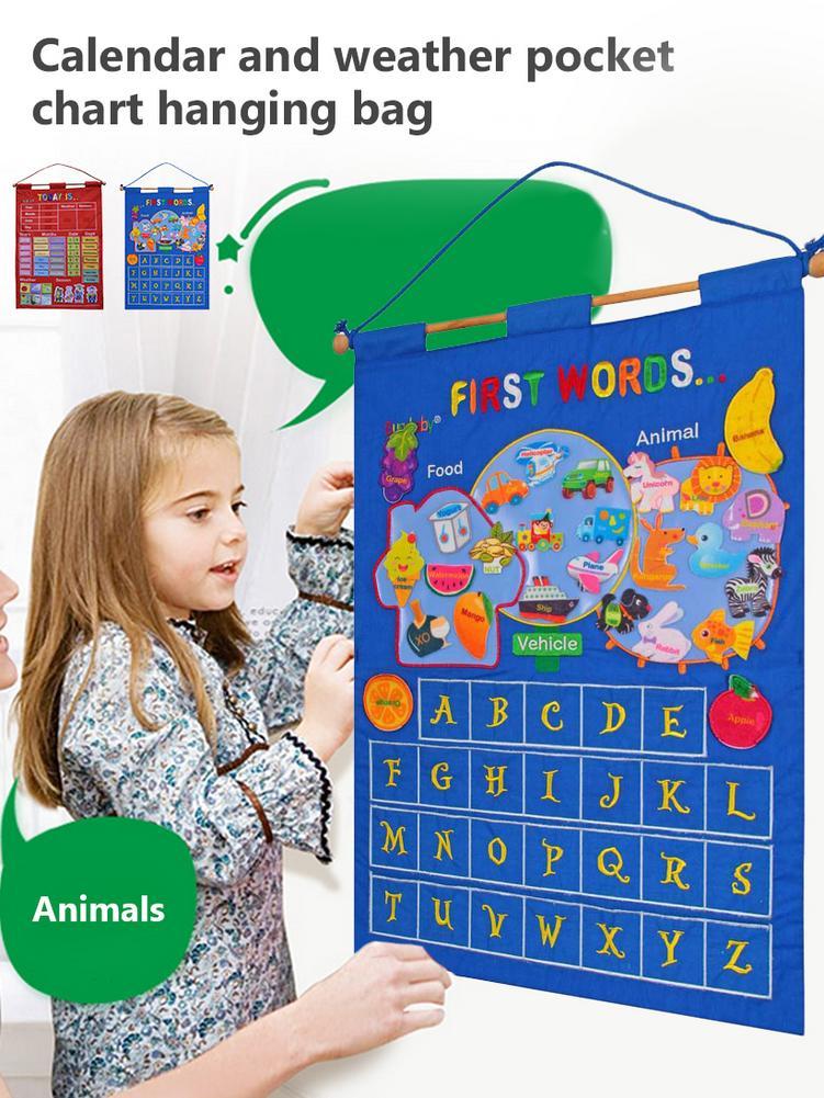 Детский Сад Детские Обучающие развивающие игрушки ткань обучения английские
