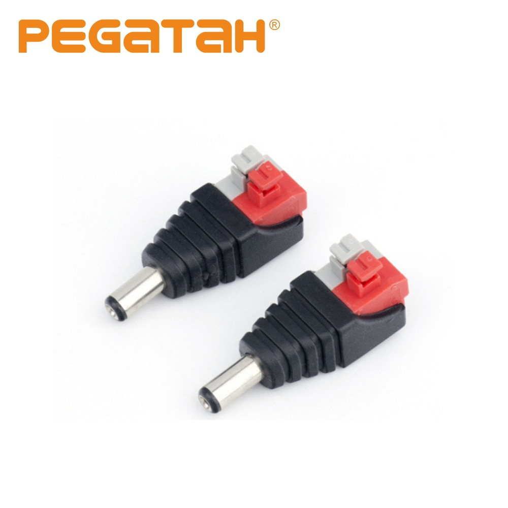 DC Connector Power 5.5x2.1mm JR52-A  Jack Plug Adapter Led Strip And Electronic Lights Male Press DC Connectors For CCTV Camera for crown reiz electronic steering computer plug electronic power steering computer plug connector